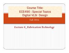 Lecture 6_Fabrication Technology