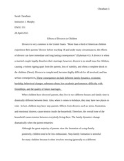 Cause or Effect Essay (Essay 4)