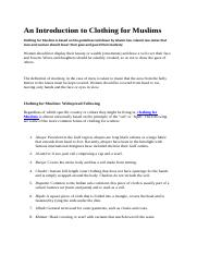 An Introduction to Clothing for Muslims.docx