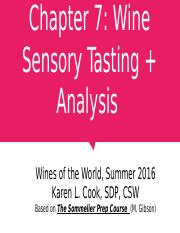 Chapter 07 Tasting + Analysis 062716