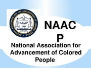 Presentation on the NAACP