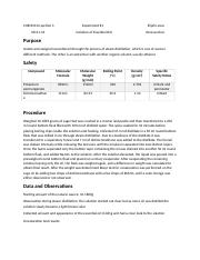 Lab Report for Isolation of Essential Oils