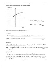Radical and Rational Functions