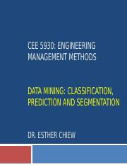 CEE 5930 -- Data Mining Part 1 - Fall 2017.pptx