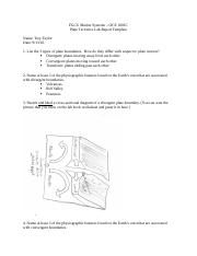 Plate Tectonics Exercise