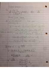 exam 1 review limits derivative rules