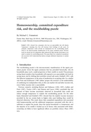 Homeownership, Committed Expenditure Risk, and the Stockholding Puzzle