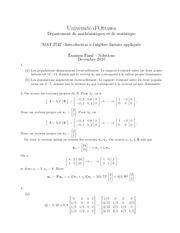 MAT 2742 Fall 2010 Final Exam Version A Solutions