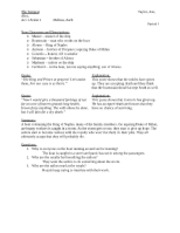 English-The Tempest Worksheet (Act 1-Scene 1)