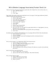 MLA Guide sheet for student use