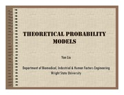 Lecture Notes on Theoretical Probability Models