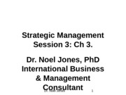 Session 3 Ch. 3 Strategic Management