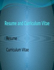 Resume-and-Curriculum-Vitae