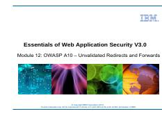 unit 12 - owasp a10 - unvalidated redirects and forwards.pdf
