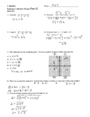 Review Packet Part II Solutions