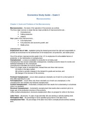 ECON 190: Notes Ch4 - Macroeconomy Goals
