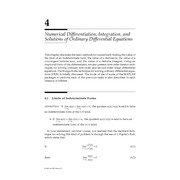 Chapter 4. Numerical Differentiation, Integration, and Solutions ofOrdinary Differential Equations