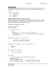 ICS 2470 OOP--C++ Lecture 5 Overloading.doc