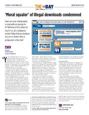 1896 'Moral squalor' of illegal downloads condemned