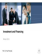 MBA 2013_Investment and Financing_NEW VERSION