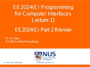 EE2024(E) Lecture 11_Part 2 Review