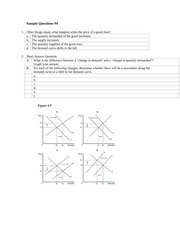Market Forces of Supply and Demand Practice Questions