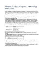 Chapter 5 - Reporting and Interpreting Cash Flows