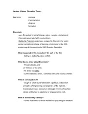Lecture 4 Notes Einstein's Theory