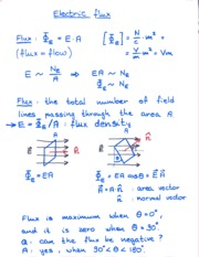 Electric Flux Notes