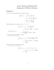 Homework 10 Wirtten Solutions