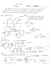 Exam 1 Study Guide Solution on Electric and Electronic Circuits