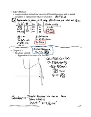 Chapter 7.1- Euler's Method & Chapter 5.5- Newton's Method