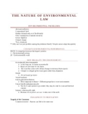 Week 3 - The Nature of Environmental Law