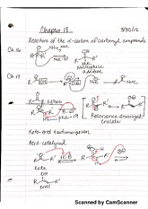 Reactions at the Carbon of Carbonyl Compounds Chapter Notes