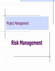 Lec 10 Managing Risk