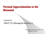 9.2_Norma_Approximation to Binomial