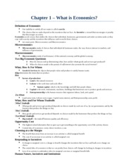 ECON 1000 STUDY PACKAGE (NOTES FROM 1-17) - Copy