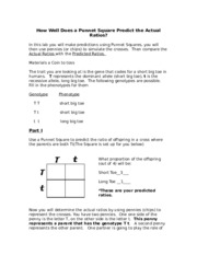 Fall 2014 BIOL 103 X How Well Does a Punnet Square Predict the Actual Ratios and two traits project-