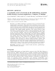 Mental Health Journal Article