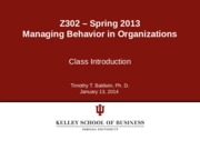 Course Intro Day 1 SLides - SP 2014