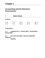 Solutions - Chapter 1 - ACC 101 - KP