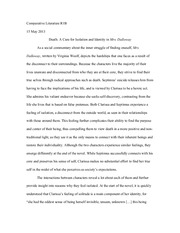 "Comp Lit R1B- Woolf ""Mrs. Dalloway"" Essay"