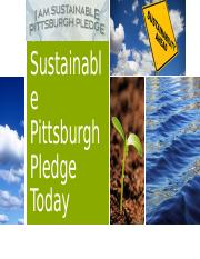 Take the I am Sustainable Pittsburgh Pledge Today: Speech PowerPoint