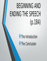 4-Beginning  Ending the speech.pptx