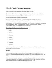 The 7 Cs of Communication.docx