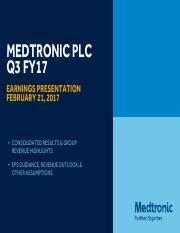 Medtronic Earnings_Presentation-FY17Q3-FINAL