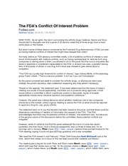 FDA_Conflicts_of_Interest_and_VIOXX[1]