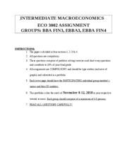 ECO3002 IME Assignments