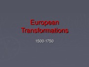 Transformations in Europe Slides(1)