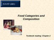 3. Food Categories and Composition